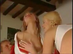 Schoolgirl Sandra disciplined by teacher Luna and headmaster