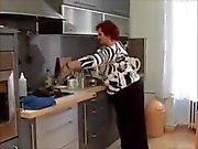 Mature BBW Kitchen Fuck