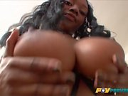 Baby Cakes' Big Black Ass Bounces on a Cock