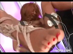 Roped Toyed Suspended Hairy Asian Teen