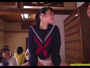 Jav Teen Ootsuki Hibiki Rides Glory Hole In Front Of Friends
