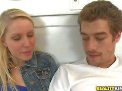 Teen blonde Kiara Diane gives a helping hand