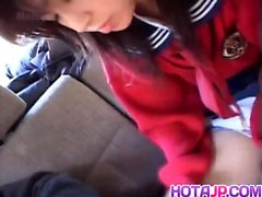 Airin Okui and chick in school uniform suck boners in the