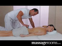 Massage Rooms - Teen with big natural boobs