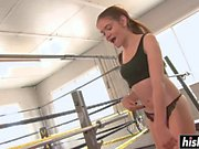 Smoking hot Lucie gets fucked in the gym