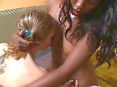 Lesbians teeching a Sweet Teen