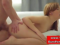 Euro amateur sucking before riding