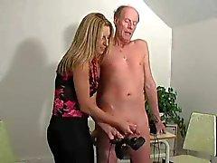 Hot Boss Girl Jerking Old Man -F70