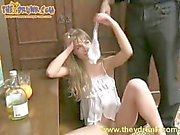 Young drunk russian girl hard fucked
