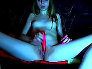 Angel teen orgasm with toys playing on webcam