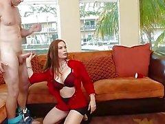 Naughty moms Diamond Foxxx and Marsha May share cock