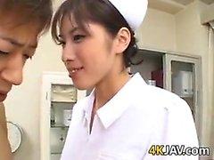 Asian Nurse Giving A Blowjob