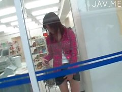 Asian teen pleasured herself on public