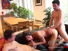 Crazy threesome and DP scene