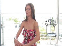 Maddi&nbsp_Squirts&nbsp_&amp_ Gags on Cum at Calendar Audition