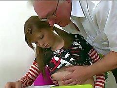 Oldman Fucks Teen Schoolgirl