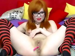 Redhead teen Masturbation