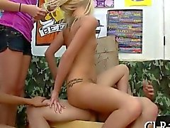 Partying College Gals banged from behind