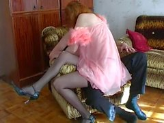 Redhead Mom Helen and Slava