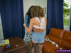 Teen girl fight ends in lesbian pussy licking and orgasms