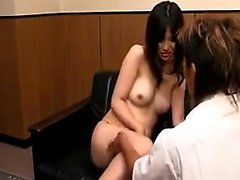 Charming Japanese babe gets her juicy cunt drilled good on