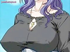 Hentai gets massive boobs rubbed