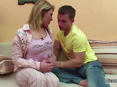 Bro Seduce Step-Sister to First Fuck When Mom and Dad Away
