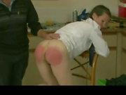 British schoolgirl Elly craves more spanking from caretaker