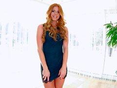 Hot as fire redhead model