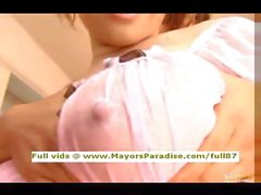 Japanese AV busty gorgeous oiled girl