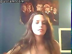 Recorded session from online teen home webcam
