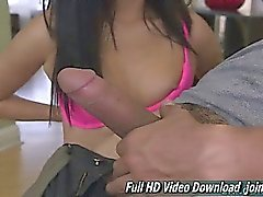 Alina Li Girl Cute Face Hand Job