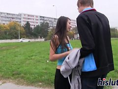 Busty teen has her tight pussy penetrated