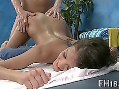 That lovely babe receives pussy massaged