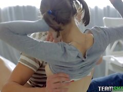 Darling is arousing dude with her naughty fellatio