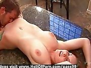 Gorgeous blonde gets pussy fucked hard