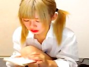Japanese Teen Girl Masturbate With Dildos