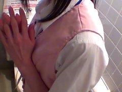 Asian teen filmed peeing