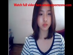 Cute Korean Girl on Web Cam