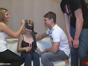 These teen start with an innocent game where a blindfolded