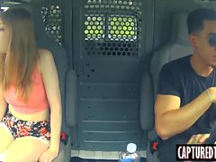 Smoking hot teen Dolly Leigh receives massive dick in a van