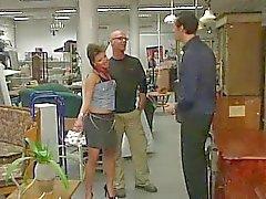 German Teen fucked in the Shop