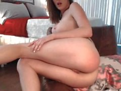 AmberHahn 2014-06-20 - public cum show (no audio)