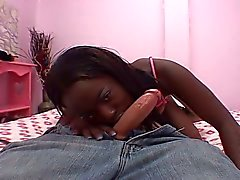 Teen ebony babe gets hammered by white uncle