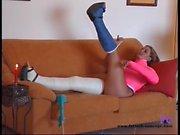 Fetisch-Concept com - Cast Leg Teen Masturbating at home -