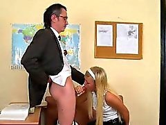 3some lesson with aged teacher