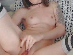 Hot Teen Neighbor Caught Dildo Pussy Play On Cam