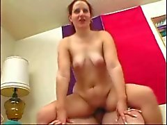 Chubby GF sucking and riding her Old boyfriend's Cock, P2