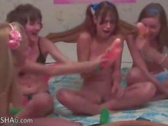 Four belarusian teens in live show
