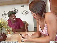 Sexy Ebony Girl Fucked by her Step Brother